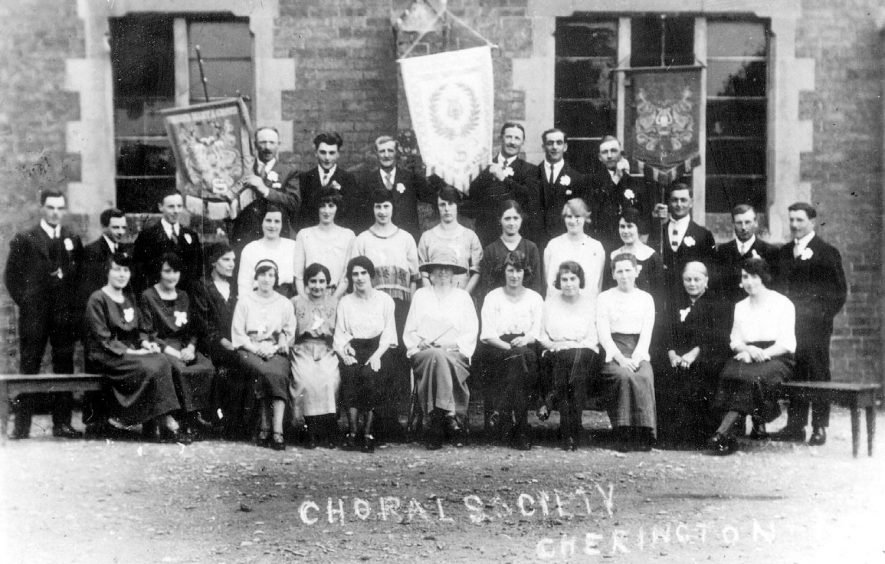 Members of the choral society, Cherington.  1930s. |  IMAGE LOCATION: (Warwickshire County Record Office)