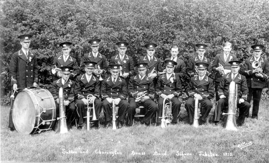 Cherington and Sutton brass band silver jubilee.  1935 |  IMAGE LOCATION: (Warwickshire County Record Office)