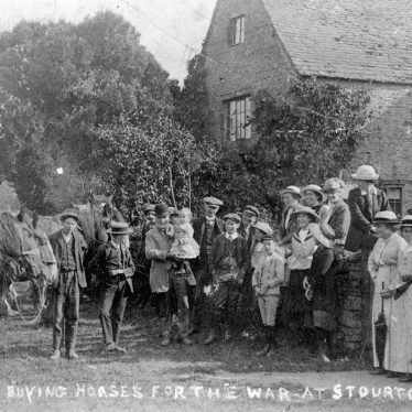 Stourton.  Buying horses for the war