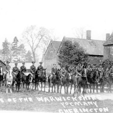 Cherington.  Parade of The Warwickshire Yeomanry