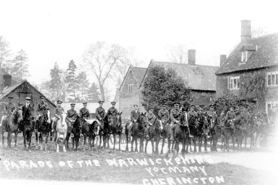 The Warwickshire Yeomanry at Cherington.  1910s |  IMAGE LOCATION: (Warwickshire County Record Office)