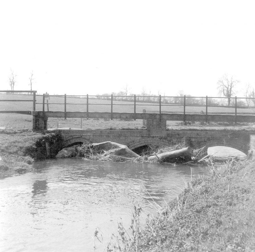 Footbridge, Little Lawford.  1964 |  IMAGE LOCATION: (Warwickshire County Record Office)