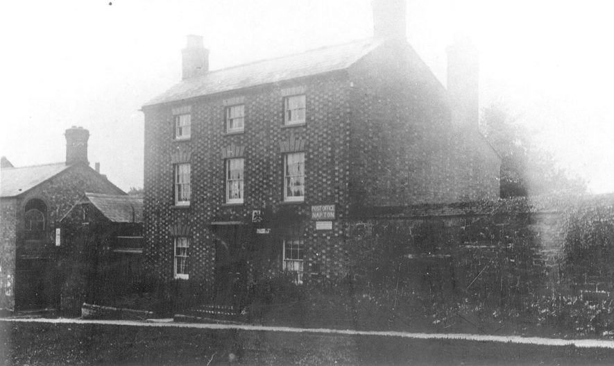The post office, Napton on the Hill.  1900s  [View across The Green, High St. of the Post Office. One of a number of locations over the years.] |  IMAGE LOCATION: (Warwickshire County Record Office)