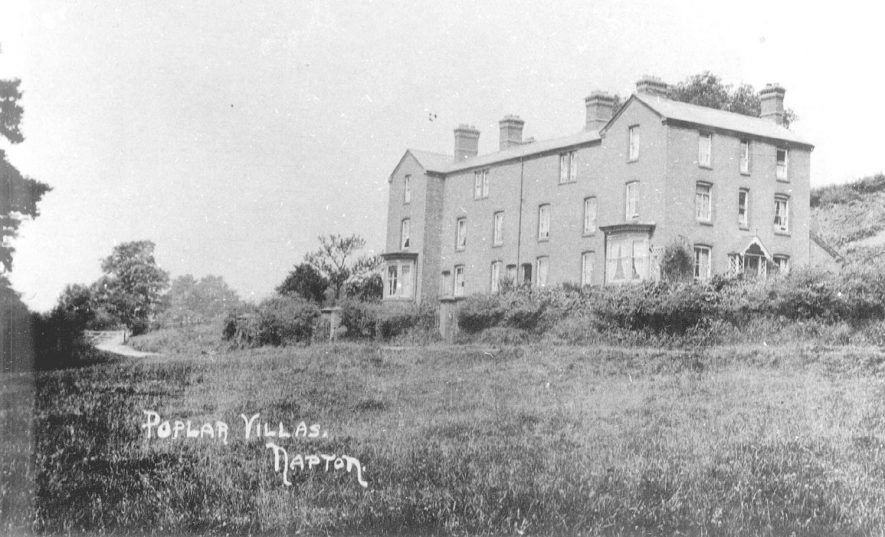 Poplar Villas, Napton on the Hill.  1900s |  IMAGE LOCATION: (Warwickshire County Record Office)
