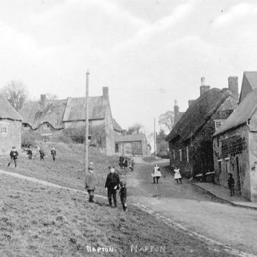Napton on the Hill.  Crown Green and Hackwell Street