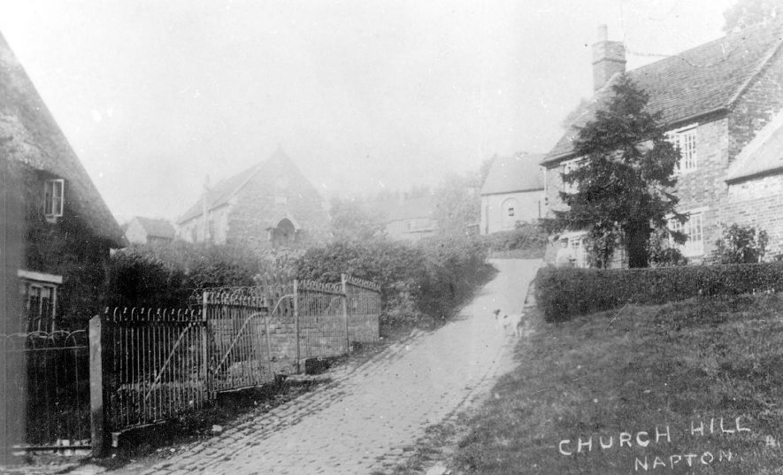 Cottages and chapel in Church Hill, Napton on the Hill.  1900s |  IMAGE LOCATION: (Warwickshire County Record Office)