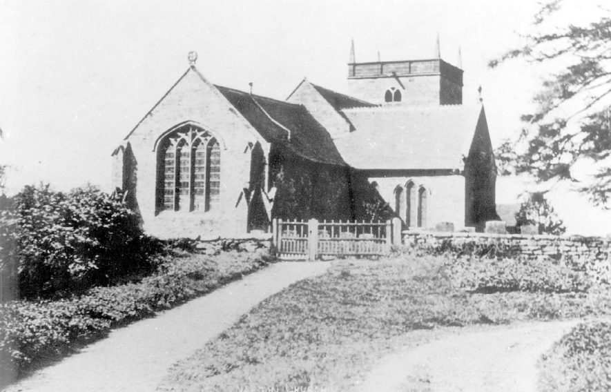 Exterior of St Lawrence's church, Napton on the Hill.  1900s |  IMAGE LOCATION: (Warwickshire County Record Office)