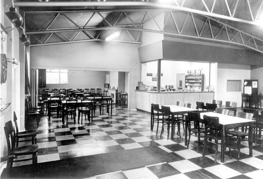 Interior of the Victory Club, Napton on the Hill.  1960s |  IMAGE LOCATION: (Warwickshire County Record Office)
