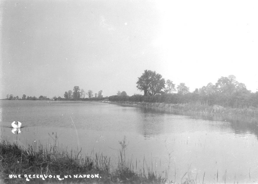 Reservoir at Napton on the Hill.  1920s |  IMAGE LOCATION: (Warwickshire County Record Office)