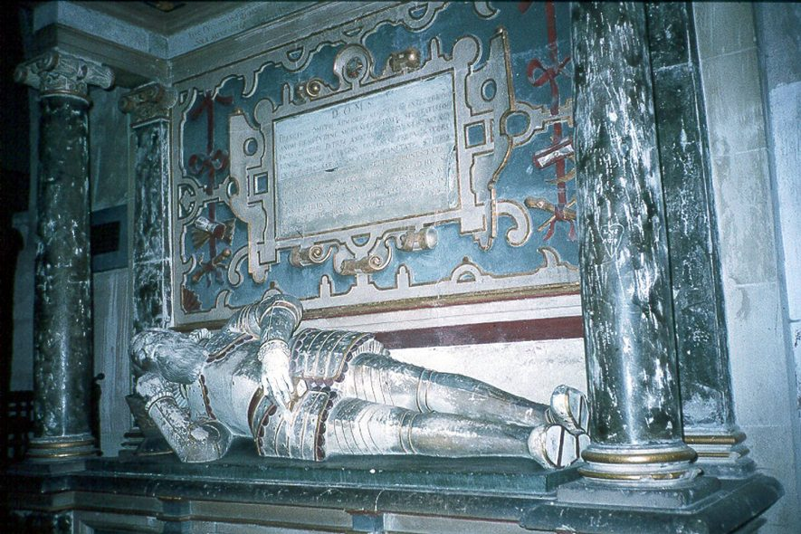 Wootton Wawen.  Tomb of Sir Francis Smith in parish church.  1980s |  IMAGE LOCATION: (Warwickshire County Record Office)