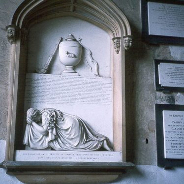 Wootton Wawen.  Monument to John Phillips