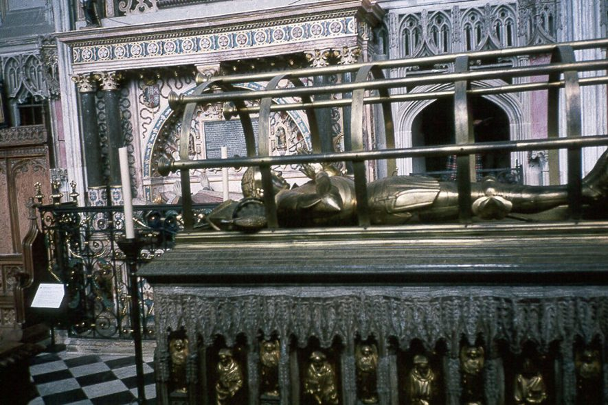 St Mary's Church, Warwick.  The tomb of Richard Beauchamp, Earl of Warwick.  1990 |  IMAGE LOCATION: (Warwickshire County Record Office)
