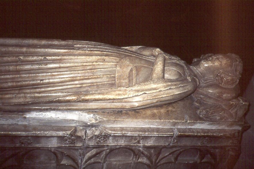 Tomb of Elizabeth Cockeyne in St Editha's church, Polesworth.  1980s |  IMAGE LOCATION: (Warwickshire County Record Office)