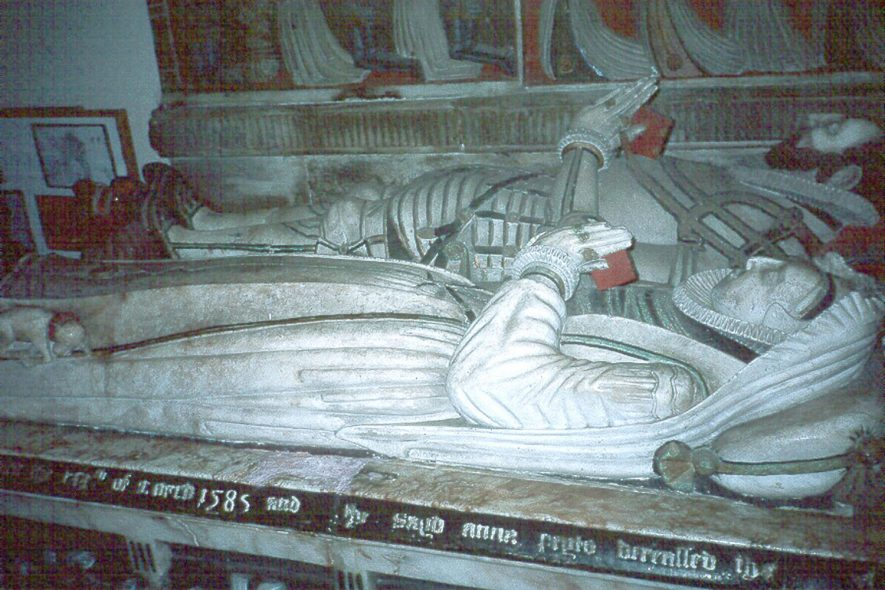 The Peyto family tomb in St Giles church, Chesterton.  1980s |  IMAGE LOCATION: (Warwickshire County Record Office)