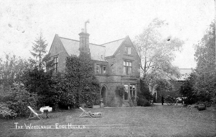 Large country house known as The Woodlands at Edgehill.  1900s |  IMAGE LOCATION: (Warwickshire County Record Office)