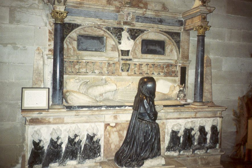 The Lucy family tomb in St Leonard's church, Charlecote.  1980s |  IMAGE LOCATION: (Warwickshire County Record Office)