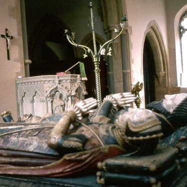 Alcester.  Tomb of Sir Fulke and Lady Greville