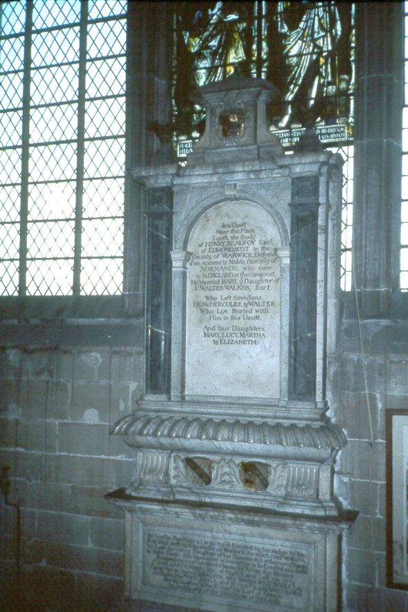 The Monument to Henry Beaufoy and his wife, 1700, in St Mary's church, Warwick.  1980s |  IMAGE LOCATION: (Warwickshire County Record Office)