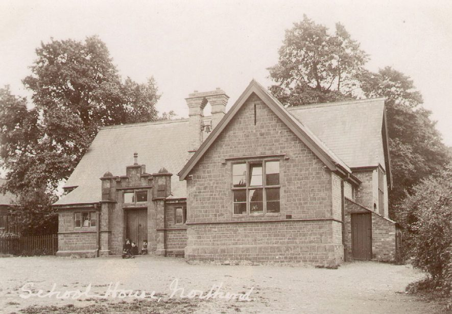 The school house, Northend.  1900s |  IMAGE LOCATION: (Warwickshire County Record Office)