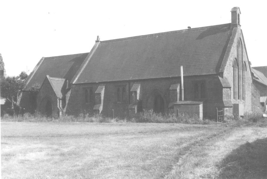 Exterior of the Chapel of Ease in Northend.  1930s |  IMAGE LOCATION: (Warwickshire County Record Office)