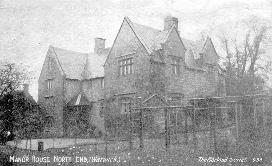 Exterior of The Manor House, Northend.  1900s |  IMAGE LOCATION: (Warwickshire County Record Office)