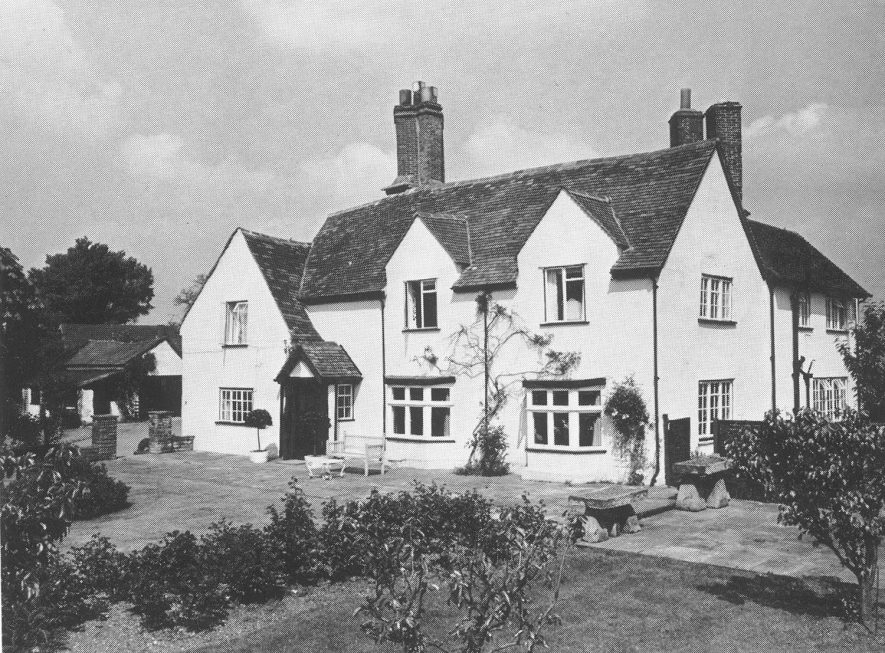 Exterior of Big House farmhouse and gardens, Norton Lindsey.  1971    IMAGE LOCATION: (Warwickshire County Record Office)