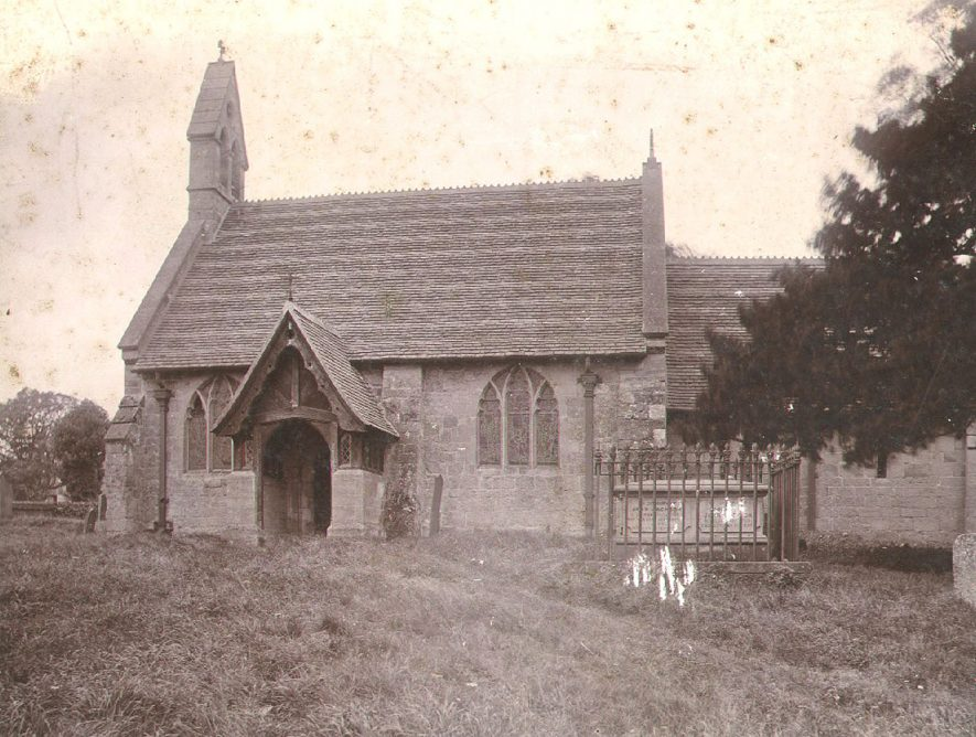 Exterior of Holy Trinity church, Norton Lindsey.  1900s |  IMAGE LOCATION: (Warwickshire County Record Office)