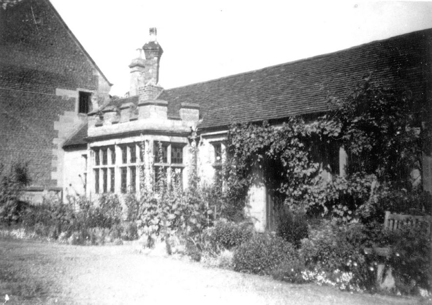 Part of the Priory building, Priory Park, Warwick.  Most of the Priory had already been demolished and removed to the US.  1940s |  IMAGE LOCATION: (Warwickshire County Record Office)