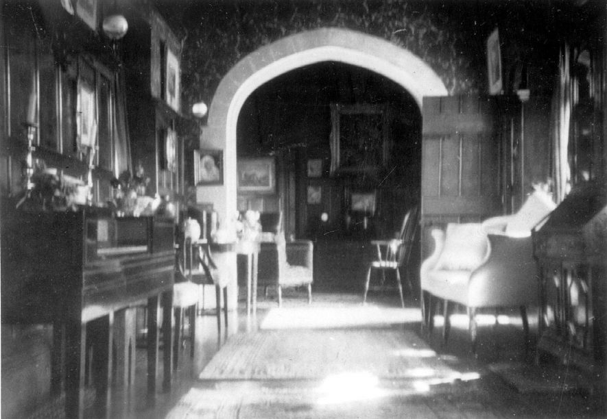 Part of the Priory building interior, Warwick.  Most of the Priory had already been demolished and removed to the US.  1940s |  IMAGE LOCATION: (Warwickshire County Record Office)