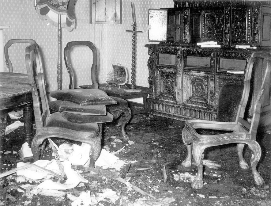Stoneleigh Abbey, part of interior, following fire on 5th May 1960. |  IMAGE LOCATION: (Warwickshire County Record Office)