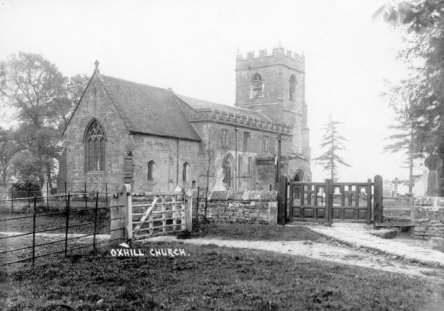 St Lawrence Church exterior north side, Oxhill.  1920s |  IMAGE LOCATION: (Warwickshire County Record Office)