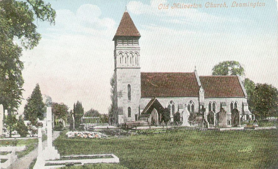 St James Church, Old Milverton.  Exterior from the south.  1900s |  IMAGE LOCATION: (Warwickshire County Record Office)