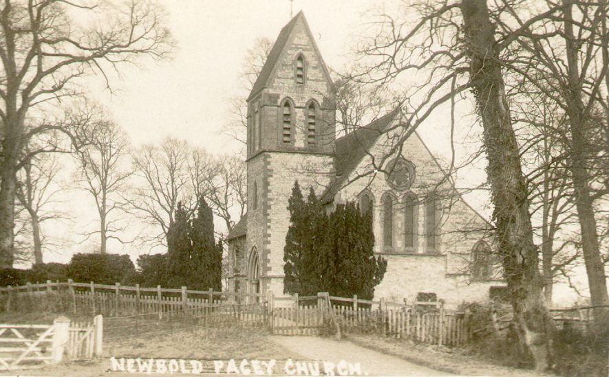 Church of St George the Martyr, Newbold Pacey.  1920s |  IMAGE LOCATION: (Warwickshire County Record Office)