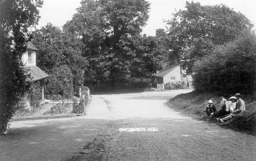 A village street in Offchurch.  1900s |  IMAGE LOCATION: (Warwickshire County Record Office)