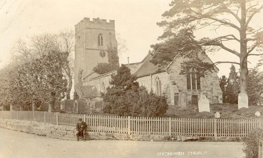 The church of St Gregory, Offchurch.  1900s |  IMAGE LOCATION: (Warwickshire County Record Office)