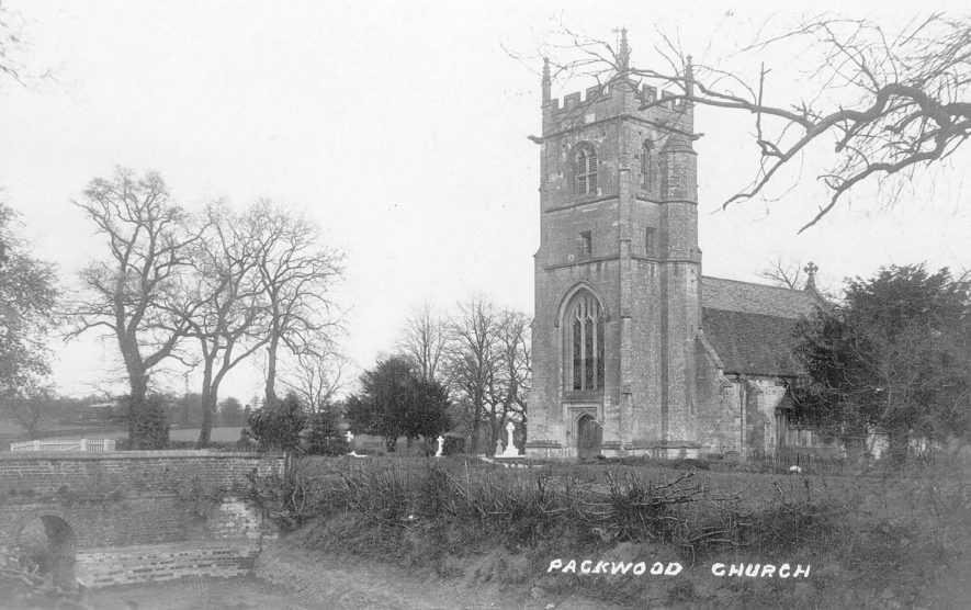 Packwood parish church from the south west.  1900s |  IMAGE LOCATION: (Warwickshire County Record Office)