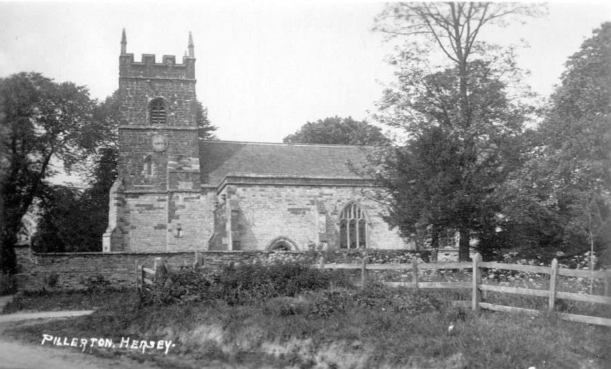 Pillerton Hersey parish church from S.  1930s |  IMAGE LOCATION: (Warwickshire County Record Office)