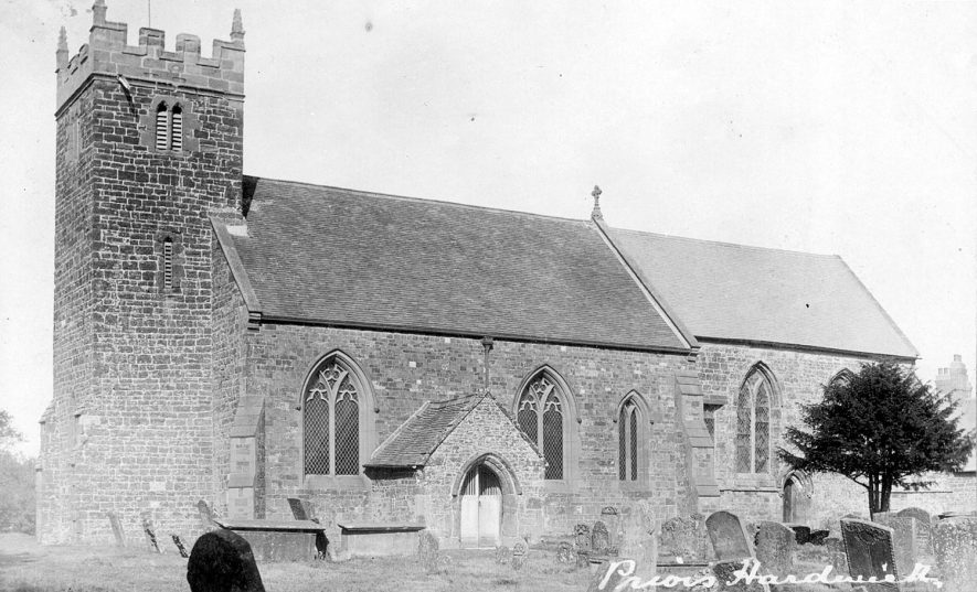 Priors Hardwick parish church from SW.  Early 20th Cent. |  IMAGE LOCATION: (Warwickshire County Record Office)