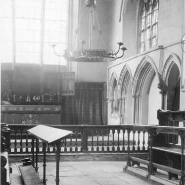 Priors Hardwick.  Church interior