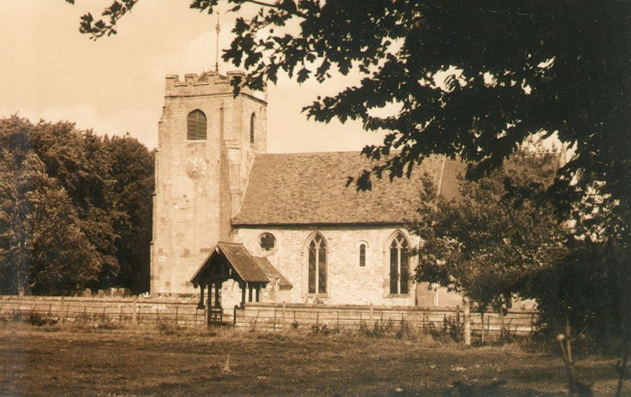 Radford Semele parish church from SE.  Photograph taken by student as part of HND Visual Communications course at Mid-Warwickshire College.  1995-6 |  IMAGE LOCATION: (Warwickshire County Record Office)