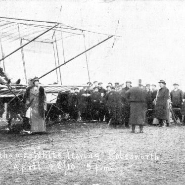 Polesworth.  Graham White and Bi-plane
