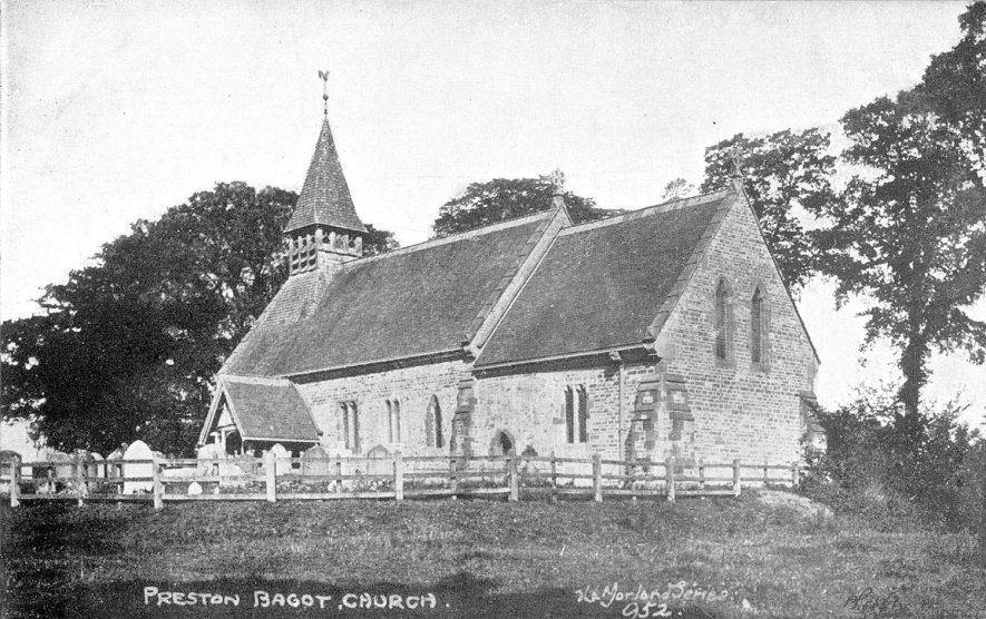 All Saint's church, Preston Bagot.  Circa 1908 |  IMAGE LOCATION: (Warwickshire County Record Office)