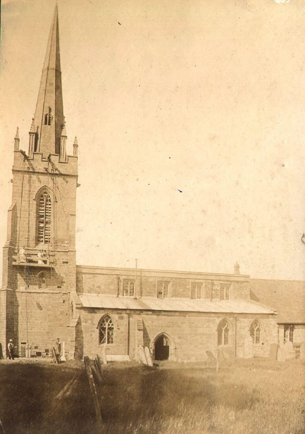 Lower Quinton parish church exterior.  1900s |  IMAGE LOCATION: (Warwickshire County Record Office)