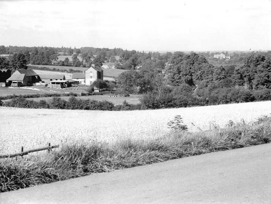 Fossebury Farm viewed from the Fosse Way, Pillerton Hersey.  1956 |  IMAGE LOCATION: (Warwickshire County Record Office)
