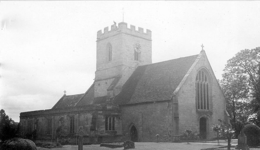 St Lawrence Church exterior, Rowington.  1938 |  IMAGE LOCATION: (Warwickshire County Record Office)