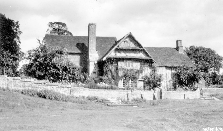 Whitley End Farm House, Rowington.  1938 |  IMAGE LOCATION: (Warwickshire County Record Office)