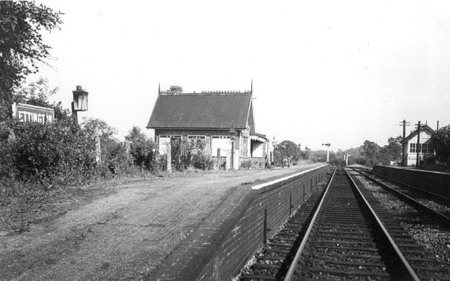 A view of Ettington station, looking along the line.  1960 |  IMAGE LOCATION: (Warwickshire County Record Office)