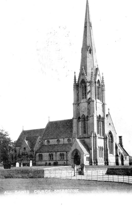 Exterior view of All Saint's church, Sherbourne. 1900s |  IMAGE LOCATION: (Warwickshire County Record Office)