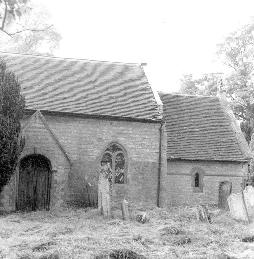 Exterior of St Leonard's church, Spernall.  1967 |  IMAGE LOCATION: (Warwickshire County Record Office)