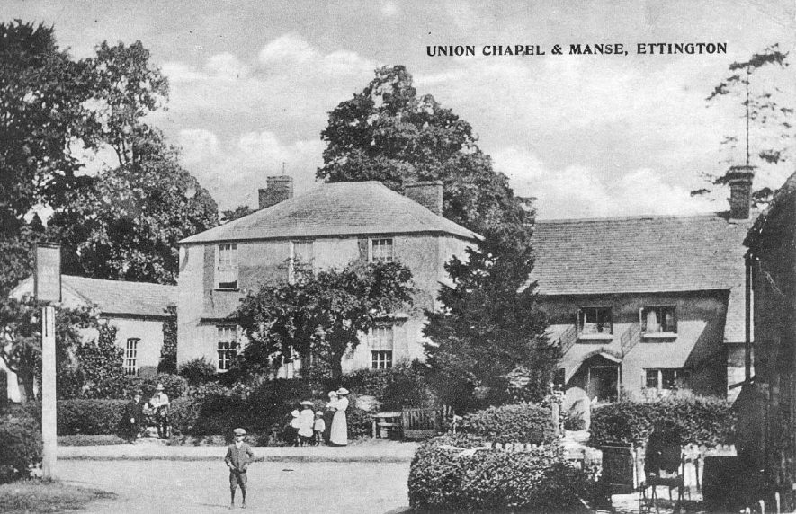 The Union Chapel and Manse, Ettington.  1911 |  IMAGE LOCATION: (Warwickshire County Record Office)